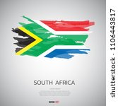 flag of south africa  with... | Shutterstock .eps vector #1106443817