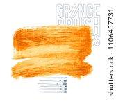 orange brush stroke and texture.... | Shutterstock .eps vector #1106457731
