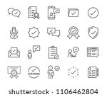 check list icon set  stamp icon ... | Shutterstock .eps vector #1106462804