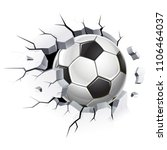 soccer ball or football and old ... | Shutterstock .eps vector #1106464037