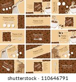 set of business cards on the... | Shutterstock .eps vector #110646791