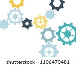 cogwheels as symbol of... | Shutterstock .eps vector #1106470481