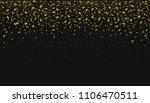 golden flying confetti... | Shutterstock .eps vector #1106470511