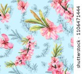 romantic seamless pattern with...   Shutterstock . vector #1106471444