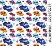 set cars isometric pattern... | Shutterstock .eps vector #1106472239