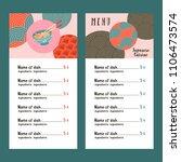 japanese cuisine. a set of...   Shutterstock .eps vector #1106473574