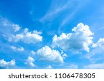 Small photo of Azure sky or sky blue beautiful white clouds. It is everything lies above surface Earth atmosphere and outer space. Cloud is aerosol comprising visible mass of liquid droplets frozen crystals in air