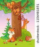 cute vector illustration with...   Shutterstock .eps vector #1106481851