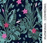 retro wild seamless floral... | Shutterstock .eps vector #1106482661