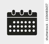 calendar isolated icon. glyph...   Shutterstock .eps vector #1106483657