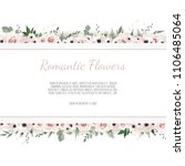 vector floral design card.... | Shutterstock .eps vector #1106485064