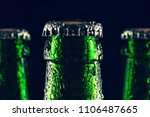 necks of sealed beer bottles... | Shutterstock . vector #1106487665