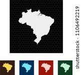 map of brazil   Shutterstock .eps vector #1106492219