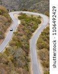 empty curved asphalt mountain... | Shutterstock . vector #1106492429