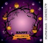 happy halloween wreath design...   Shutterstock .eps vector #1106502779