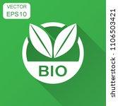bio label badge vector icon in... | Shutterstock .eps vector #1106503421