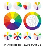 color wheel  types of color... | Shutterstock .eps vector #1106504531