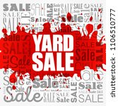 yard sale word cloud collage ... | Shutterstock .eps vector #1106510777