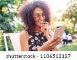 cute romantic mixed race girl... | Shutterstock . vector #1106512127
