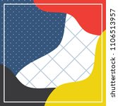 bold color pattern design... | Shutterstock .eps vector #1106513957