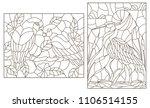 set of contour illustrations... | Shutterstock .eps vector #1106514155