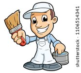 painter with a brush 2 | Shutterstock .eps vector #1106514341
