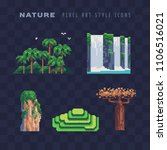 tropical nature pixel art icon... | Shutterstock .eps vector #1106516021