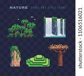 tropical nature pixel art icon... | Shutterstock .eps vector #1106516021