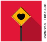 road sign with heart icon on it   Shutterstock .eps vector #1106518001