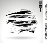 black brush stroke and texture. ... | Shutterstock .eps vector #1106520287