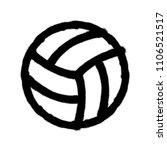 sprayed volleyball icon.... | Shutterstock .eps vector #1106521517