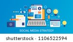modern vector flat gradient... | Shutterstock .eps vector #1106522594