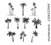 palm trees silhouette... | Shutterstock .eps vector #1106522969