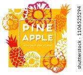 pineapple label. vector... | Shutterstock .eps vector #1106525294