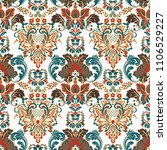 vintage floral seamless patten. ... | Shutterstock .eps vector #1106529227