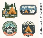 set of camping and caravanning... | Shutterstock .eps vector #1106534399