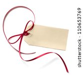 Blank Gift Tag With A Red...