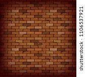 red brick wall vector... | Shutterstock .eps vector #1106537921