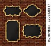 illuminated retro frames set... | Shutterstock .eps vector #1106538557
