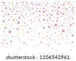confetti hearts falling on... | Shutterstock .eps vector #1106542961