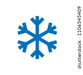 snowflake sign. blue snowflake... | Shutterstock .eps vector #1106545409