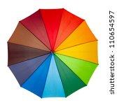 Colourful Umbrella Isolated On...