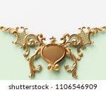 vintage gold card with ornament ... | Shutterstock . vector #1106546909