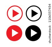 play button icon. vector... | Shutterstock .eps vector #1106557454
