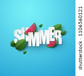 summer background with green... | Shutterstock .eps vector #1106560121