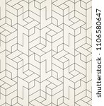 pattern with thin lines ...   Shutterstock .eps vector #1106580647