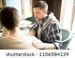 handsome man in casual outfit... | Shutterstock . vector #1106584139