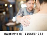 blurred man soothing... | Shutterstock . vector #1106584355