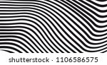 abstract black and white vector ... | Shutterstock .eps vector #1106586575
