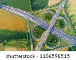 cloverleaf interchange seen...   Shutterstock . vector #1106598515